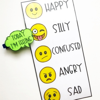 Today I\u0027m Feeling Chart with Emojis by The Social Speechie TpT - Feeling Chart