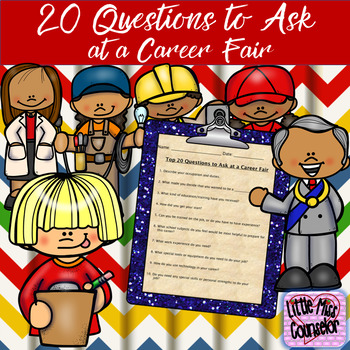 Top 20 Questions to Ask in a Career Fair by Little Miss Counselor - what to ask at a job fair