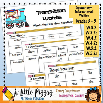 Informative/Explanatory Writing Linking Words  Transitions List