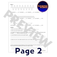 Wavelength Worksheet - Kidz Activities