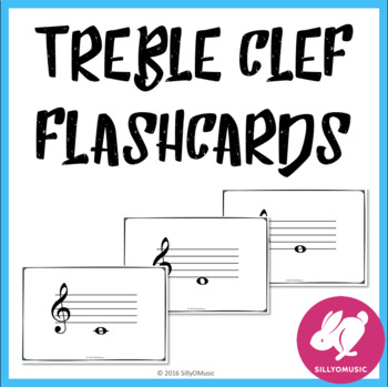 Freebie! Treble Clef Flashcards Free by SillyOMusic TpT