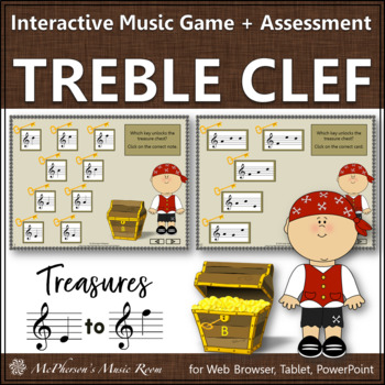 Treble Clef Treasures Interactive Music Game  Assessment by Linda
