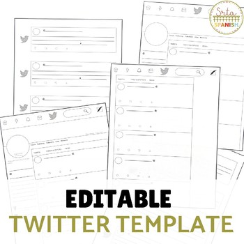 Twitter Template by Srta Spanish Teachers Pay Teachers - twitter template
