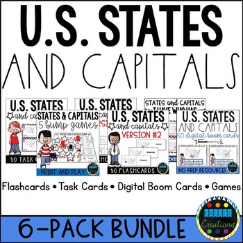 States And Capitals Bundle Teaching Resources Teachers Pay Teachers