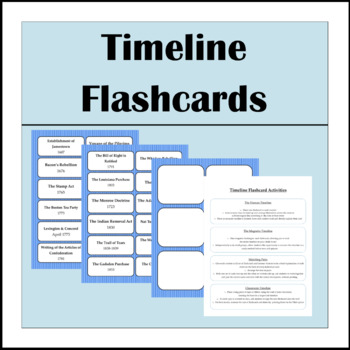 Timeline Flashcards Early US History by Miss Kerry TpT