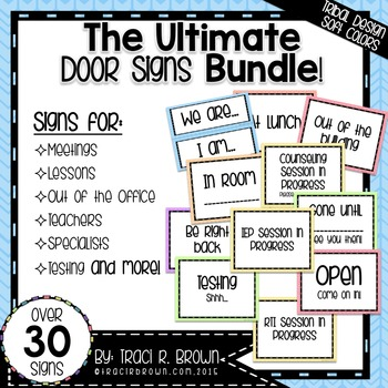 Ultimate Door Signs Bundle 1 \u2013 Tribal Design Soft Colors TpT
