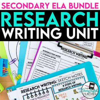 Research Paper Writing Unit Lessons, PowerPoint, Handouts, Research