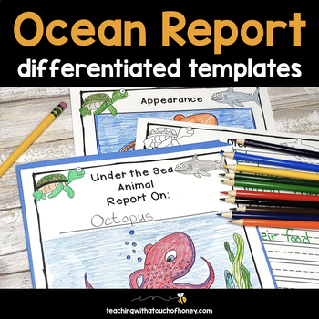 Ocean Animal Research - Report Writing Templates TpT