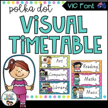 VIC Font Visual Daily Timetable {Polka Dot} by Miss Jacobs\u0027 Little