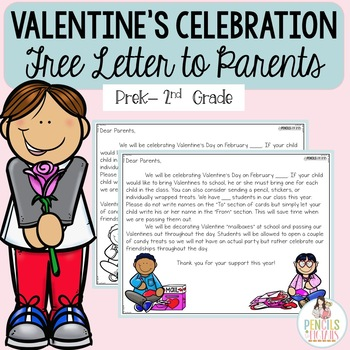 Valentine\u0027s Day Celebration - Free Letter to Parents - Several