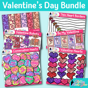 Valentine\u0027s Day Clip Art Bundle Cupid, Hearts, Borders, Scrapbook - 's day borders