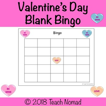 blank bingo templates Worksheets  Teaching Resources TpT