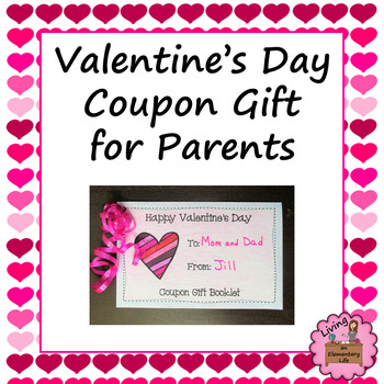 Valentine\u0027s Day Coupon Gift for Parents by Living an Elementary Life