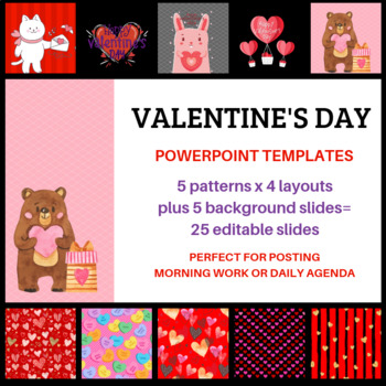 Valentine\u0027s Day Themed PowerPoint Templates for Morning Meeting