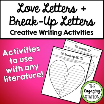 Love and Break-Up Letter Worksheets for ANY Literature by The