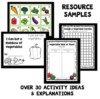 Vegetable Theme Home Preschool Lesson Plans by ECEducation101 TpT