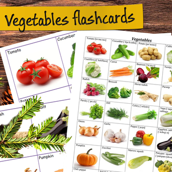 Vegetables Flashcards (vocabulary flash cards) by Valerie Fabre TpT