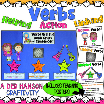 Verbs Craftivity Action Verbs, Linking Verbs, and Helping Verbs by