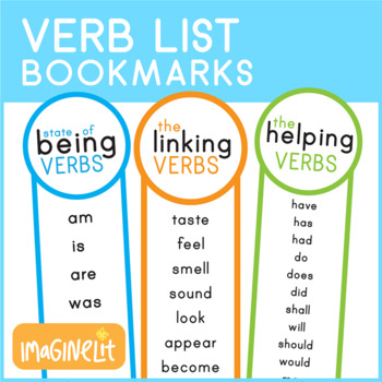 State of Being Verb, Helping Verbs, and Linking List Bookmarks by