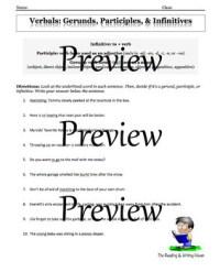Verbals Worksheet - resultinfos