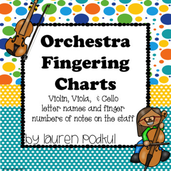 Violin, Viola, and Cello Fingering Chart by Lauren Podkul TpT