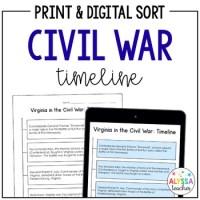 Civil War Timeline Worksheet - Calleveryonedaveday