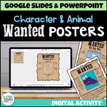 Wanted Poster for Character or Animal (Google  PowerPoint Templates) - most wanted posters templates