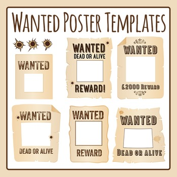 Wanted Poster Template Teaching Resources Teachers Pay Teachers - editable poster templates