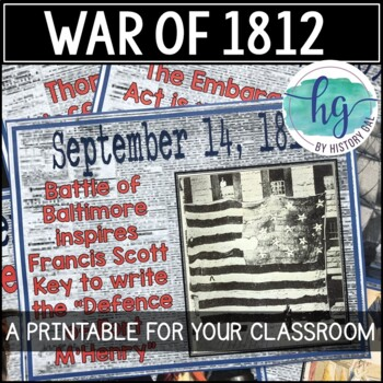 War of 1812 Timeline {A Printable for Your Classroom} by History Gal