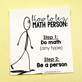 How to be a Math Person Growth Mindset Poster by Scaffolded Math and