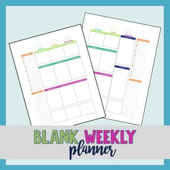 Weekly Planner (Daily To Do List) Pages - No dates by Simple As It Seems