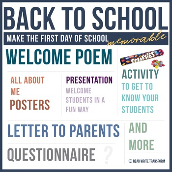 Welcome Back Letter Template Worksheets  Teaching Resources TpT