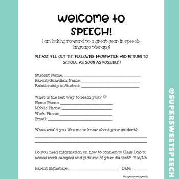 Welcome Letter Therapy Teaching Resources Teachers Pay Teachers