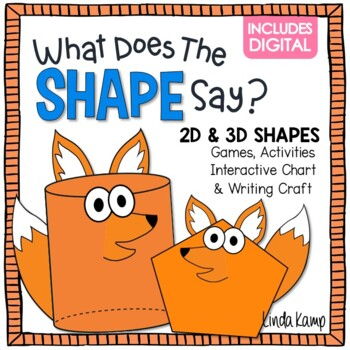 Shapes Activities 2D  3D What Does the Shape Say? by Linda Kamp