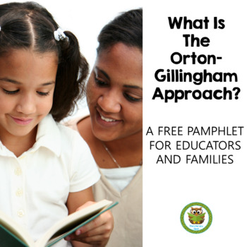What Is The Orton-Gillingham Approach? FREE Pamphlet TpT