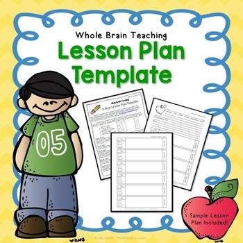 Whole Brain Teaching ~ 5 Step Lesson Plan Template (FREE) TpT