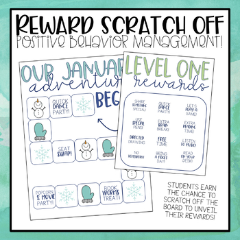 Whole Class Reward Scratch Off Boards! by Upper Elementary Adventures