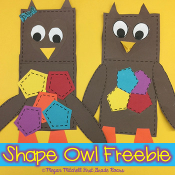 Whoooo\u0027s Learning About Shapes? An Owl Craft Freebie by First Grade