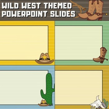 Western Cowboy Theme Slide Templates for Back to School in PowerPoint