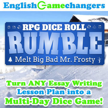 Winter Holiday RPG Dice Roll Rumble Turn ANY Essay Writing