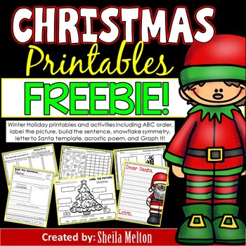 Christmas Printables FREEBIE! by Sheila Melton TpT