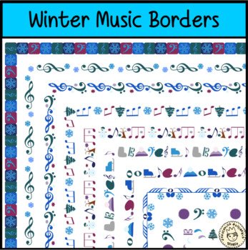 Winter Music Borders Clipart by Anastasiya Multimedia Studio TpT