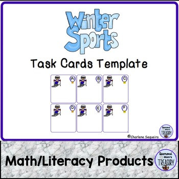Winter Sports Task Cards Template by Diamond Mom TpT