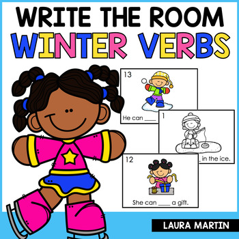 Winter Write the Room Action Verbs by Laura Martin TpT