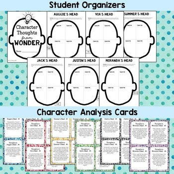 Wonder Character Analysis Project End of Novel Flipbook TpT - character analysis