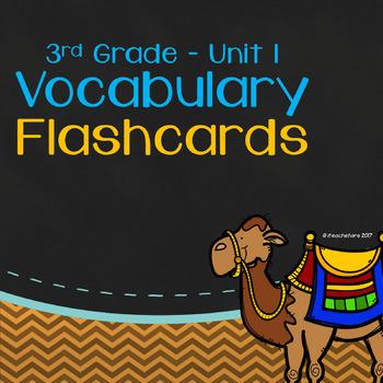 Wonders 3rd Grade Unit 1 Vocabulary Flashcards by iteachstars TpT