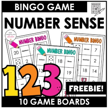 1-20 Number Bingo Printable towelbars