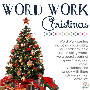 Word Work Centers Christmas by 3rd Grade Thoughts TpT - christmas tree words