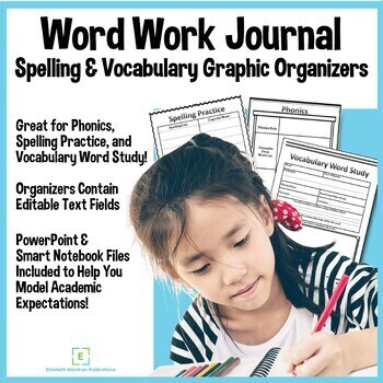 Vocabulary and Spelling Graphic Organizer Templates TpT