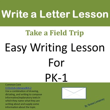 Write and Mail a Letter PK-1 by Lomasney Lesson Plans TpT